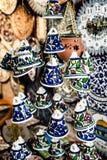 Ceramiczni dzwony jako pamiątka od Jerozolima, Izrael. obrazy stock
