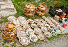 Ceramiczni garnki Zdjęcie Royalty Free