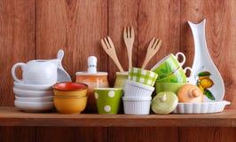 ceramiczni kuchenni narzędzia Obraz Royalty Free