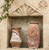 Ceramiczni starzy dzbanki w Turcja fotografia royalty free