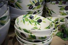 Ceramiczni talerze obrazy stock