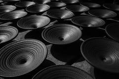 Ceramiczni talerze Perspectival historyczna handmade ceramika zdjęcia stock