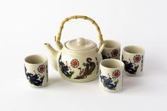 Ceramiczny chiński herbata set Zdjęcia Stock