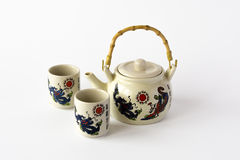 Ceramiczny chiński herbata set Fotografia Stock
