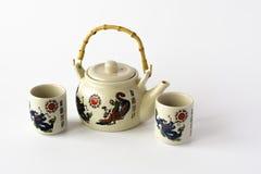 Ceramiczny chiński herbata set Zdjęcie Royalty Free