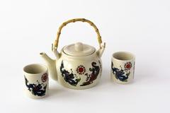 Ceramiczny chiński herbata set Obrazy Stock