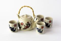 Ceramiczny chiński herbata set Obrazy Royalty Free