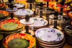 Ceramiczny czosnku ostrzarz zdjęcie royalty free