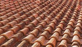 Ceramiczny dachówkowy dach obraz stock