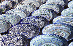 Ceramiczny dishware, Uzbekistan obraz stock