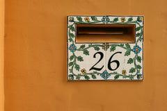 ceramiczny domowy letterbox taflował Fotografia Royalty Free