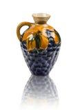 Ceramiczny dzbanek jako winogrona obrazy stock