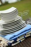 ceramiczny glassware talerzy kurortu set Fotografia Royalty Free