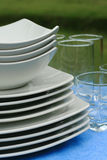 ceramiczny glassware talerzy kurortu set Zdjęcie Stock
