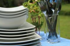 ceramiczny glassware talerzy kurortu set Fotografia Stock