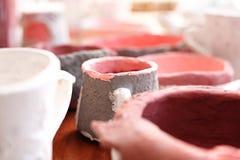 Ceramiczny glazurowanie zdjęcia stock