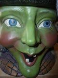 Ceramiczny grren czarownic dużych oczy Fotografia Royalty Free