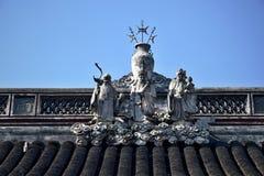 Ceramiczny grzebień Chińska ancestralna sala Obrazy Stock