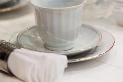 Ceramiczny herbaciany artykuły obraz stock