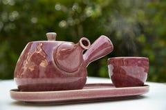 ceramiczny herbaciany garnka set zdjęcie royalty free