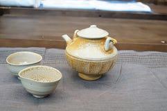 Ceramiczny herbata set fotografia stock