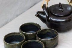 Ceramiczny herbaty & kawy set Obrazy Stock