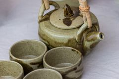 Ceramiczny herbaty & kawy set Zdjęcia Stock
