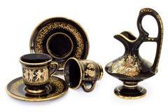 ceramiczny kawowy dekoracyjny set Zdjęcie Stock