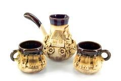 ceramiczny kawowy set Obraz Royalty Free