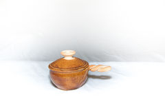 Ceramiczny kucharstwo garnek Obrazy Stock