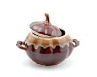 ceramiczny kulinarny pokrywkowy garnek Obraz Royalty Free
