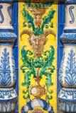 Ceramiczny most inside Plac De Espana w Seville, Hiszpania obrazy stock