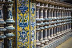 Ceramiczny most inside Plac De Espana w Seville, Hiszpania zdjęcie royalty free