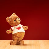 Ceramiczny niedźwiadkowy posążek Fotografia Royalty Free