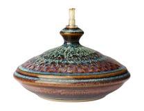 ceramiczny odosobniony lampy oleju biel obraz royalty free