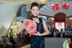 ceramiczny porcelanowy chiński kulturalny jarmark Zdjęcie Stock