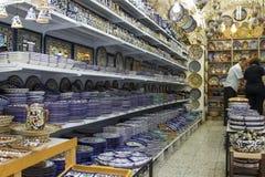 Ceramiczny sklep w Starym miasteczku Jerozolima Obrazy Royalty Free