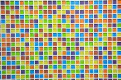 ceramiczny szklany kolorowy płytki mozaiki tło Zdjęcie Royalty Free