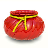 ceramiczny sznura kwiatu garnka czerwieni kolor żółty Obraz Stock