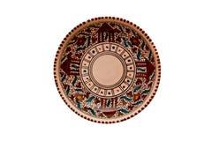 Ceramiczny talerz fotografia royalty free