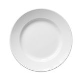 Biały ceramiczny talerz. Zdjęcia Stock