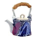 Ceramiczny teapot. Fotografia Royalty Free