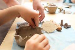 Ceramiczny warsztat dla dzieci Obraz Stock