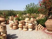 Ceramiczny warsztat na wyspie Crete w 2015 Zdjęcie Royalty Free