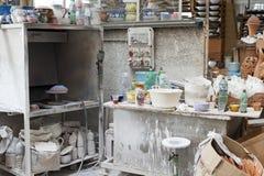 Ceramiczny warsztat w vietri Fotografia Stock