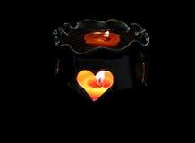 ceramiczny świecznikiem Zdjęcie Royalty Free