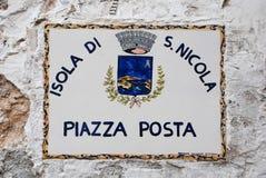 Ceramiczny znak uliczny zdjęcie stock