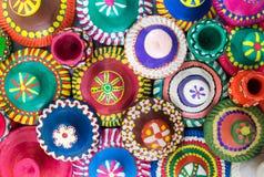 Ceramicznych naczyń odgórne pokrywy Zdjęcie Stock