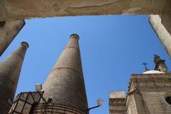 Ceramika kilns w monasterze Święty Mary De Las Cuevas w Seville obraz stock