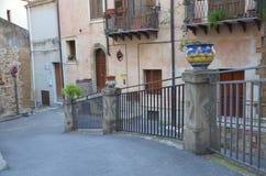 Ceramika w Sciacca mie?cie, Sicily zdjęcia royalty free